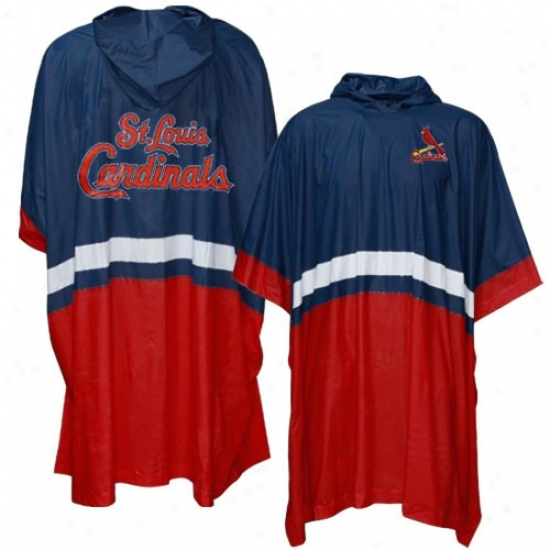 St Louis Cardinals Navy Blue Team Poncho