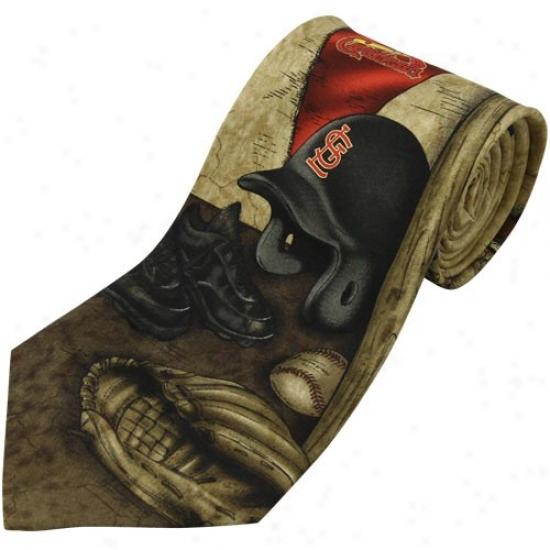 St Louis Cardinals Nostalgia 2 Silk Tie