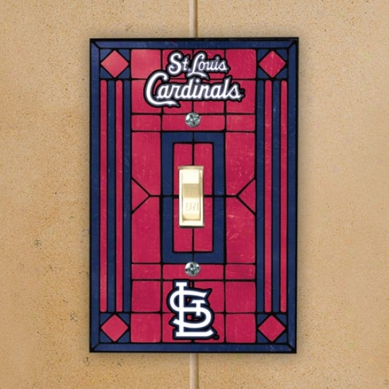 St Louis Cardinals Red Art-glass Switch Plate Cover