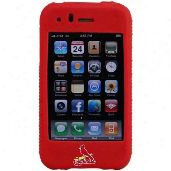 St. Louis Cardinals Red Mlb Silicone Iphone Cover