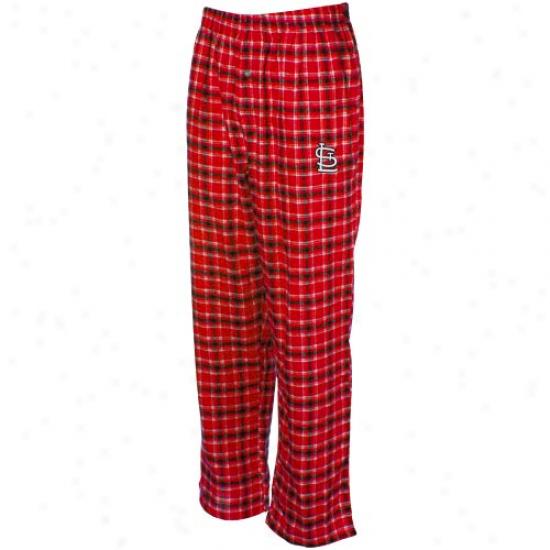 St. Louis Cardinals Red Plaid Match-up Flannel Pajama Pants