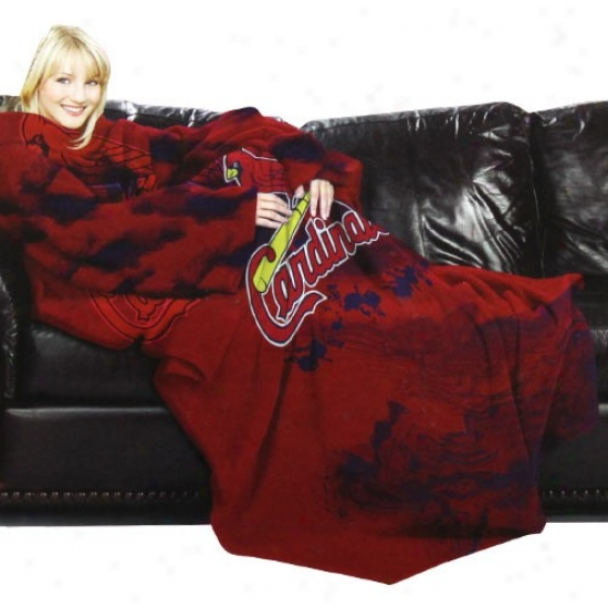 St. Louis Cardinals Red Team Logo Print Unisex Comfy Throw