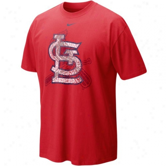 St. Louis Cardinals Shirts : Nike St. Louis Cardinals Red Stacked Up Shirts