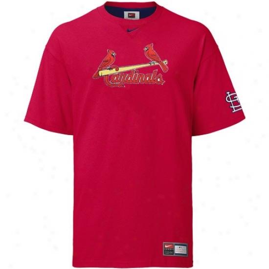 St. Louis Cardinals Shirts : Noke St Louis Cardinals Red Tackle Team Logo Shirts
