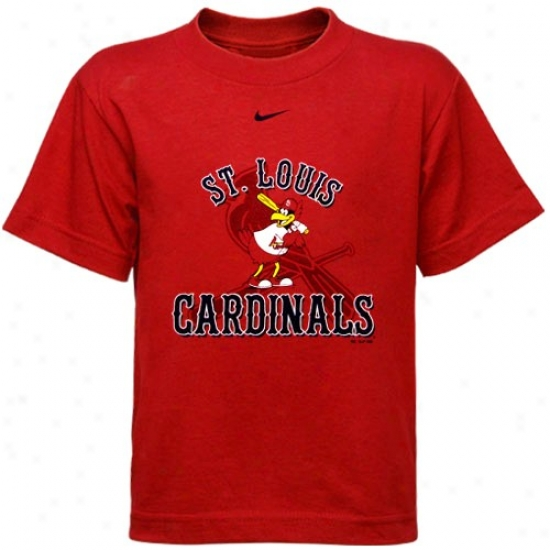 St. Louis Cardinals Shirts : Nike St Louis Cardinals Red Preschool Mascot Shirts