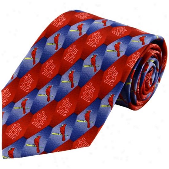 St Louis Cardinals Silk Pattern 1 Tie