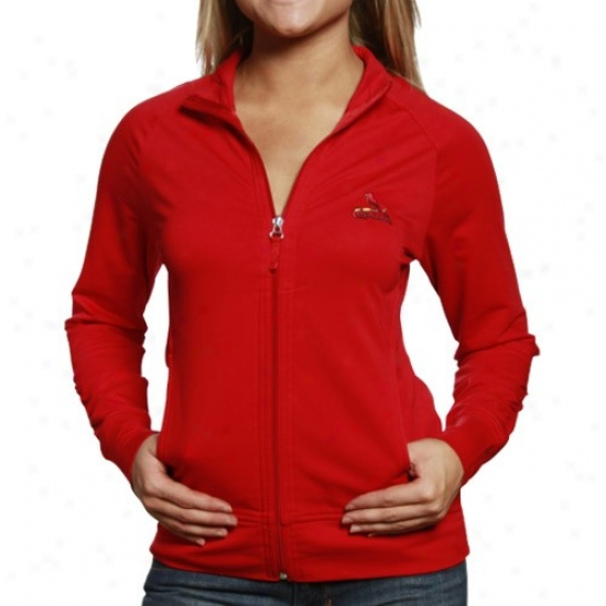 St. Louis Cardinals Exude Shirt : Cutter & Buck St. Louis Cardinals Ladies Cardinal Red Passion Zip-up Sweat Shirt