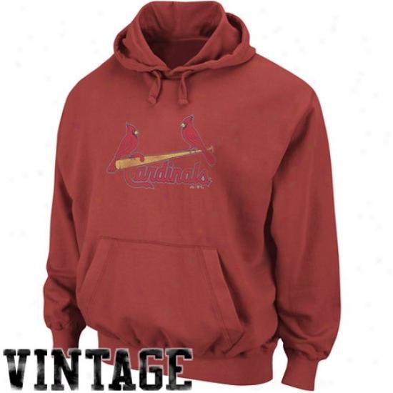 St. Louis Cardinsls Sweatshirts : Majestic St. Louis Cardinals Heather Red Big Time Play Sweatshirts