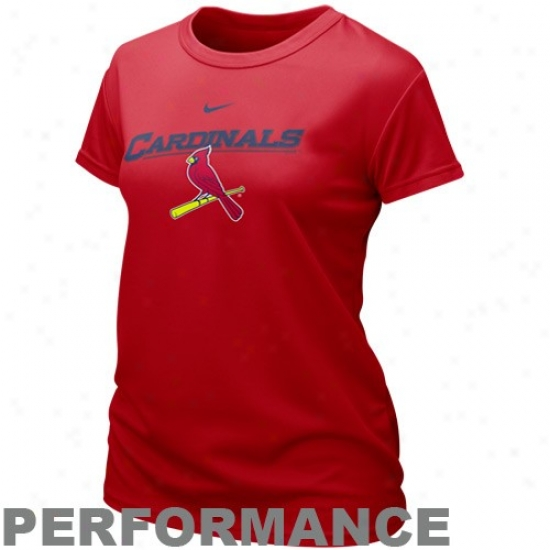 St. Louis Cardinals T-shirt : Nike St. Louis Cardinals Ladies Red Mlb Dri-fit Graphic Composition T-shirt