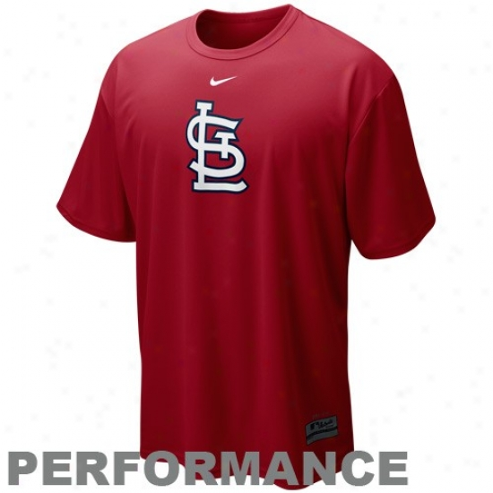 St. Louis Cardinals T Shirt : Nike St. Louis Cardinals Rrd Nikefit Mlb Logo Performance T Shiry