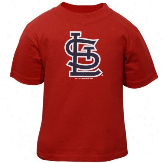 St. Louis Cardinals T Shirt : St. Louis Cardinals Toddler Red Team Logo T Shirt