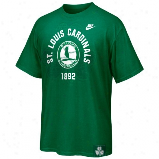 St. Louis Cardinals Tee : Nike St. Louis Cardinals Kelly Green St. Paddy's Day Washed Tee