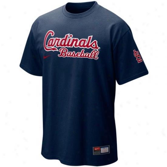 St. Louis Cardinals Tee : Nike St. Louis Cardinals Navy Blue Mlb Prsctice Tee