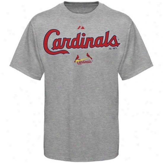 St. Louis Cardinals Tees : Majestic St. Louis Cardinals Boy Ash Succession Swee Tees