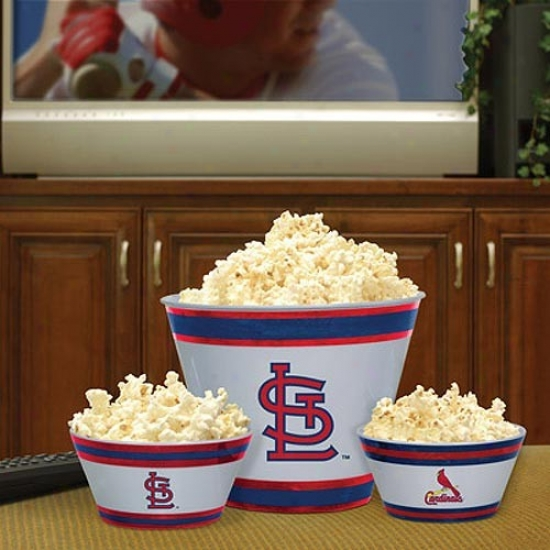 St Louis Cardinals Three-piece Melamine Serving Set