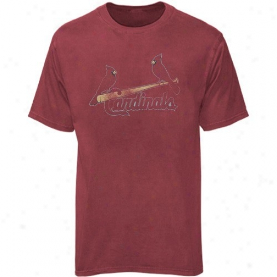 St. Louis Cardinals Tshirt : Majestic St. Louis Cardinals Yotuh Red Big Time Play Tshirt