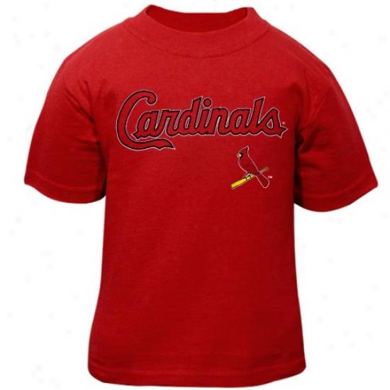 St. Louis Cardinals Tshirt : St. Louis Cardinals Toddler Red Team Wordmark Tshirt