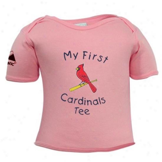 St. Louis Cardinals Tshirts : Majestic St Louis Cardinals Pink Newborn My First Tshirts Tshirts