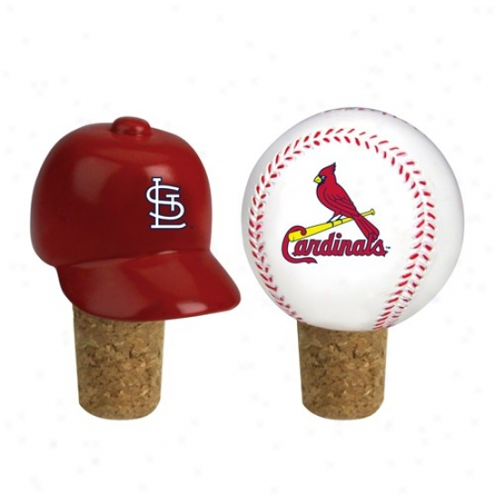 St Louis Cardinals Two Pack Bottle Cork Set