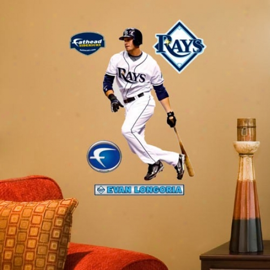 Tampa Bay Rays #3 Evan Longoria Player Junior Fathead