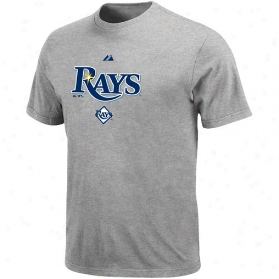 Tampa Bay Raya Apparel: Majestic Tampa Bay Rays Youth Ash Series Sweep T-shirt
