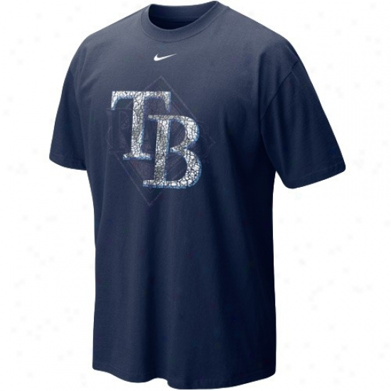 Tampa Bay Rays Apparel: Nike Tampa Bay Rays Ships Blue Stacked Up T-shirt