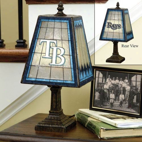 Tampa Bay Rays Art-glass Lamp