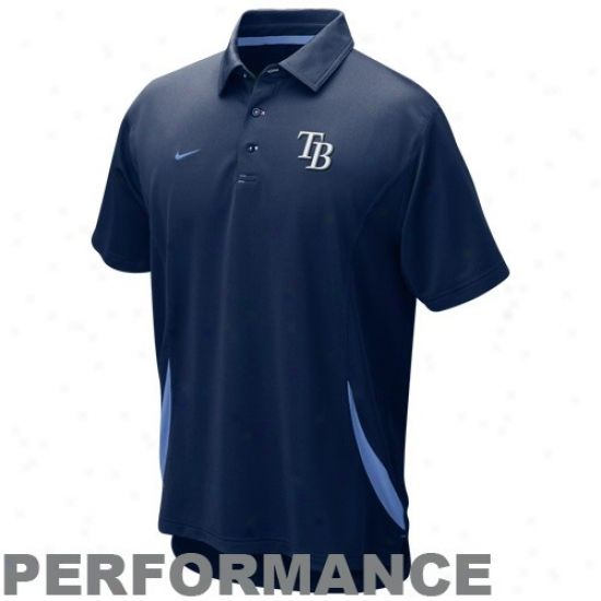 Tampa Bark Rays Clothes: Nike Tampa Bay Rays Navy Blue Mlb Dri-fit Performance Polo