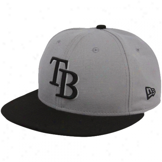 Tampa Bay Rays Gearing: New Era Tampa Bay Rays Gray-black League 50fifty Fitted Hat