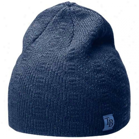 Tampa Bay Rays Gear: Nike Tampa Bay Rays Ladies Navy Blue Knit Beanie