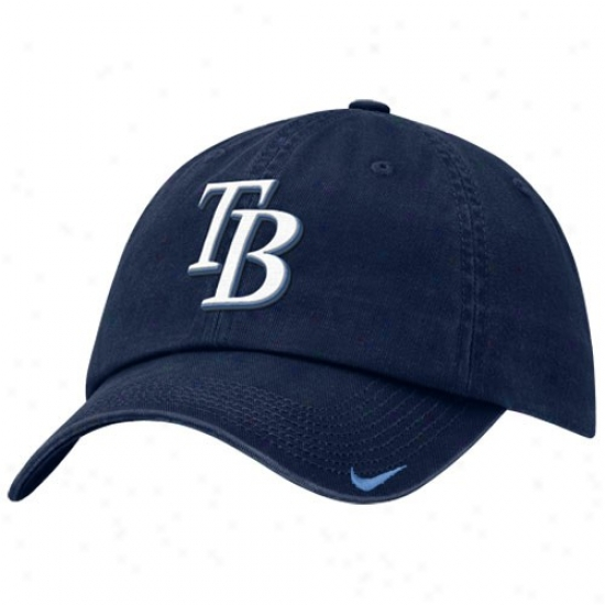 Tampa Bay Rays Gear: Nike Tampa Bay Rays Navy Blue Stadium Adjustable Hat