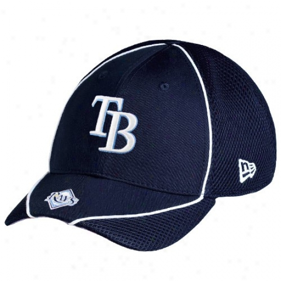 Tampa Bay Rays Hat : New Era Tampa Bay Rays Navy Blue Neo Opus Stretch Fit Hat
