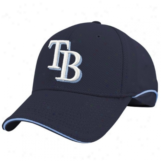 Tampa Bay Rays Hat : New Era Tampa Bay Rays Navy Blue Batting Practice Flex-fit Hat