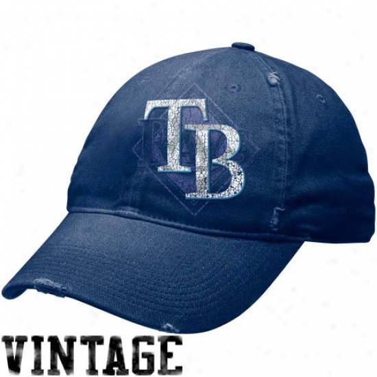 Tampa Bay Rays Hat : Nike Tampa Bay Rays Na\/y Blue Stacked Up Heritagee 86 Unisex Adjustable Hat
