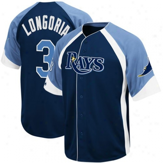 Tampa Bay Rays Jerseys : Majestic Evan Longoria Tampa Bay Rays Wheelhouse Replica Jerseys - #3 Ships of war Blue