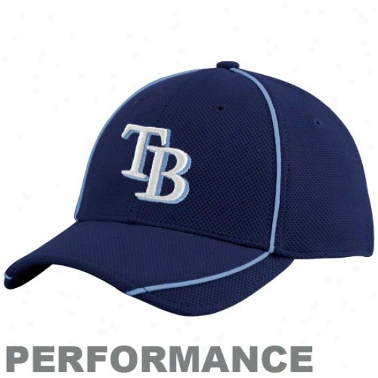 Tampa Bay Rays Merchandise: New Ea Tampa Bay Rays Youth Navy Blue 2010 Official Batting Practice Flex Fit Performance Hat