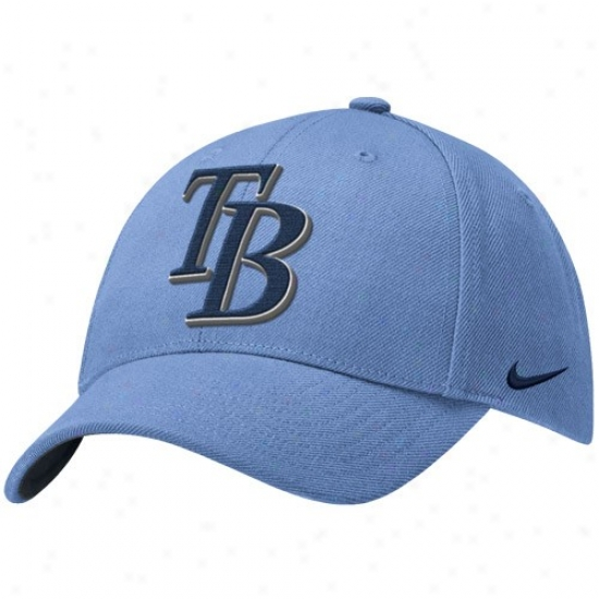 Tampa Bay Rays Merchandise: Nike Tampa Bay Rays Light Blue Wool Classic Adjustable Hat