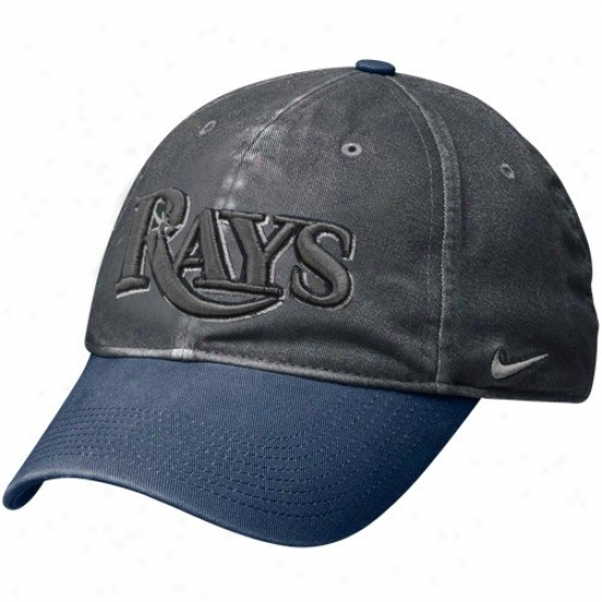 Tampa Bay Rays Merchandise: Nike Tampa Bay Rays Graphite Legacy 91 Circus Catch Flex Fit Hat