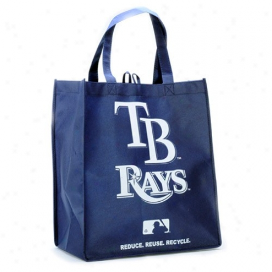 Tampa Bay Rays Navy Blue Reusable Tote Bag