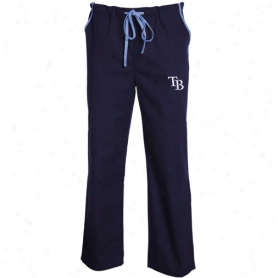 Tampa Bay Rays Navy Blue Scrub Pants