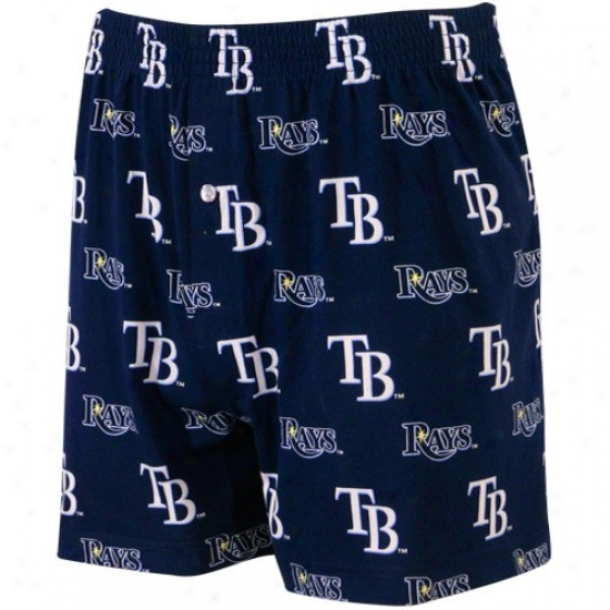 Tampa Bay Rays Navy Blue T2 All Over Print Boxer Shorts