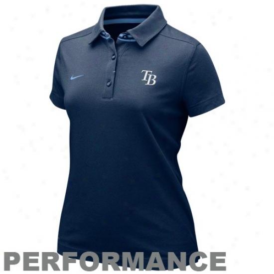 Tampa Bay Rays Polos : Nike Tampa Bay Rays Ladies Navy Blue As If Mlb Performance Polos
