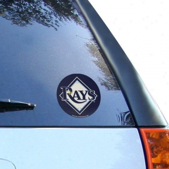 Tampa Bay Rays Round Vinyl Decal
