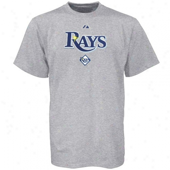 Tampa Bight Rays Shirt : Majestic Tampa Bay Rays Ash Series Sweep Shirt
