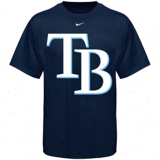 Tampa Bay Rays Shirt : Nike Tampa Bay Rays Youth Navy Blue Big Logo Shirt