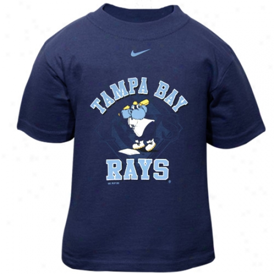 Tampa Bay Rays T-shirt : Nike Tampa Bay Rays Toddler Navy Blue Mascot T-shirt