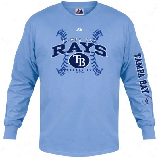 Tampa Bay Rays Tee : August Tampa Bay Rays Light Bue Classic Contest Long Sleeve Tee