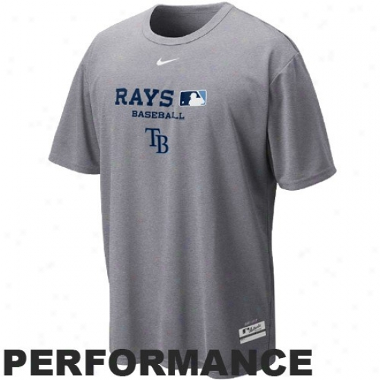 Tampa Bay Rays Tee : Nike Tampa Bay Rays Ash Mlb Dri -fit Team Issue Performance Tee
