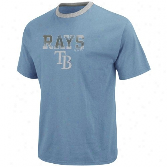 Tampa Bay Rays Tshirt : Majestic Tampa Bay Rays Light Azure The Highlight Fashion Tshirt