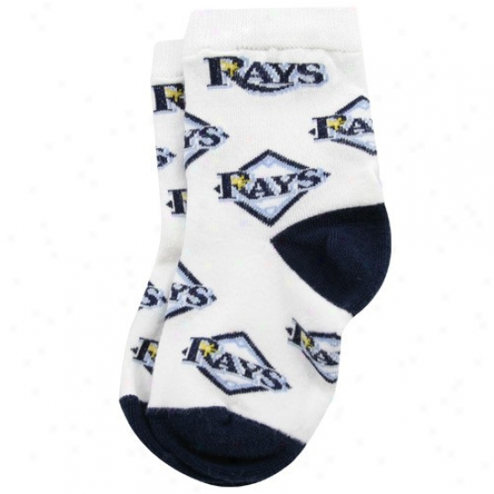 Tampa Bay Rays White Infant Woven Team Logo Sock